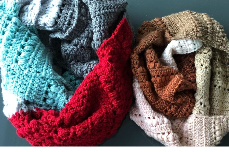 Stella Infinity Cowl in Chunky and DK