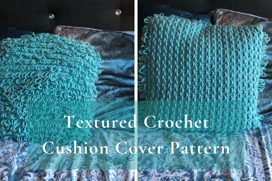 Two sided textured cushion cover pattern