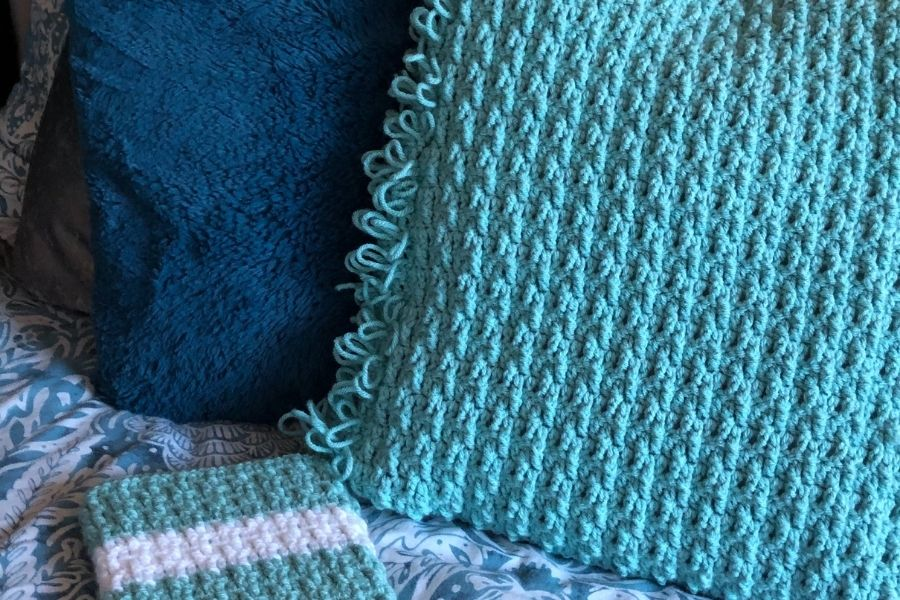 Ribbed texture crochet cushion cover pattern