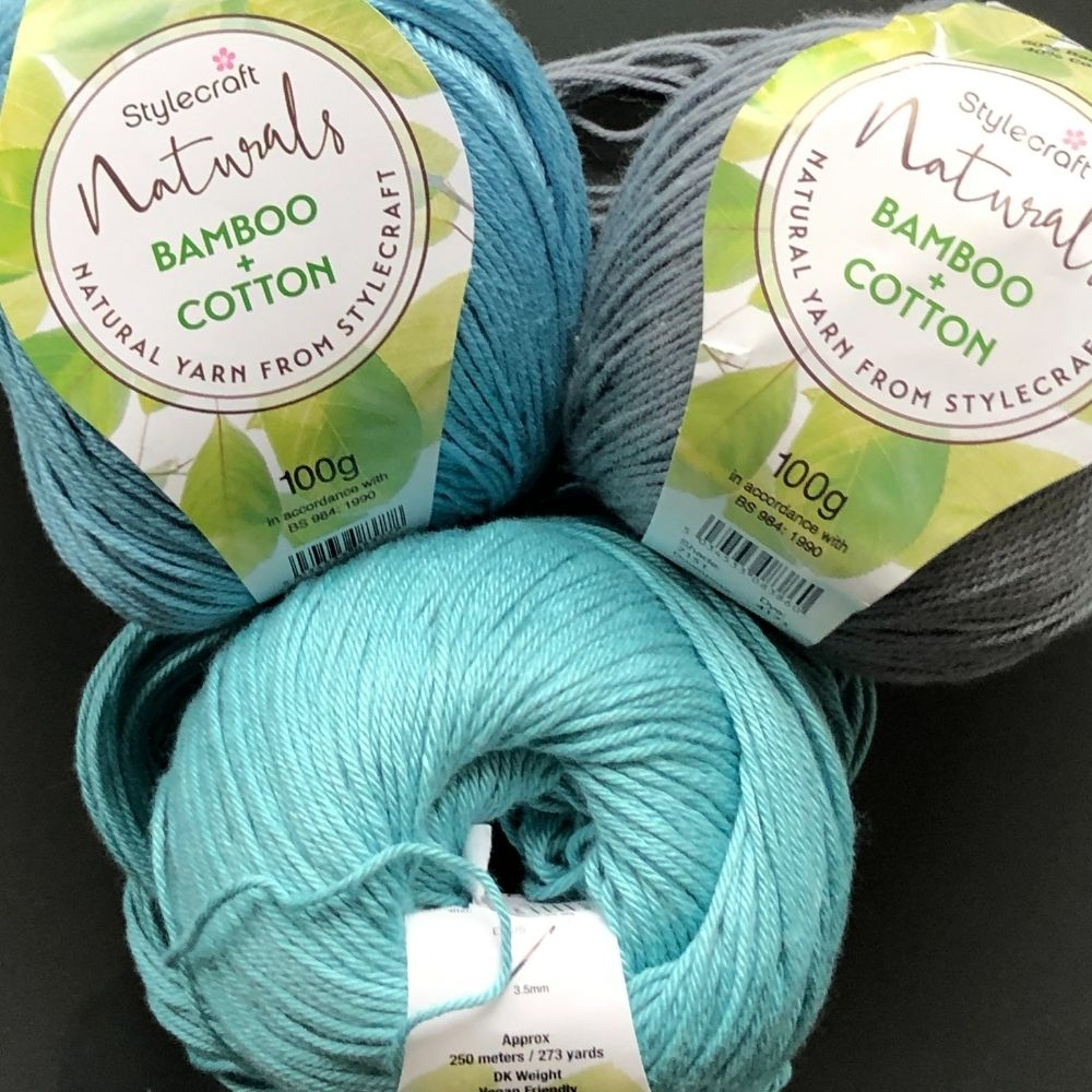 Stylecraft Naturals Bamboo Cotton image for 3 fav cotton yarns review blog post