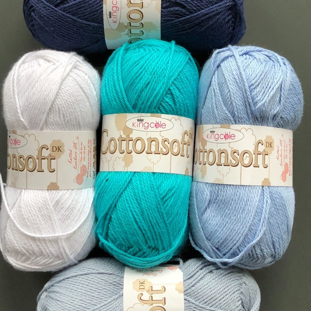 King Cole Cottons Soft yarn picture in 3 great cotton yarns to try review post